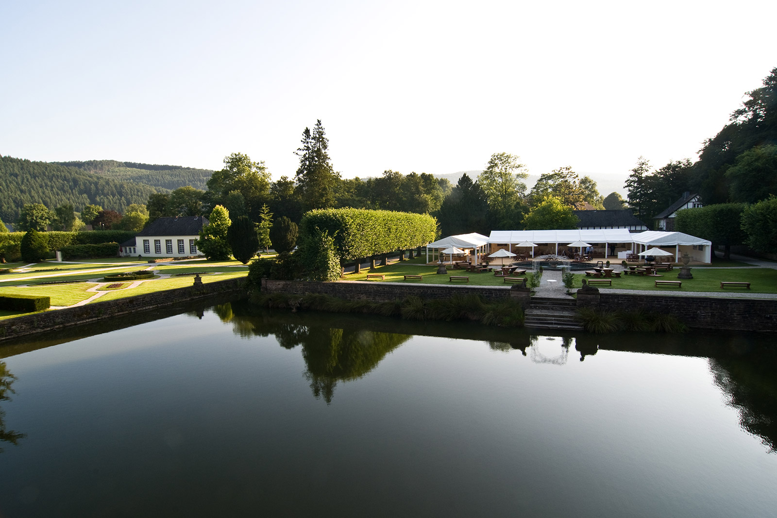 Event, event, conference and wedding at the castle park near Cologne and Bonn